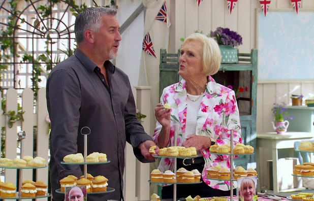 Mary Berry on the Great British Bake Off, Shown on BBC One HD - 8 October 2014.