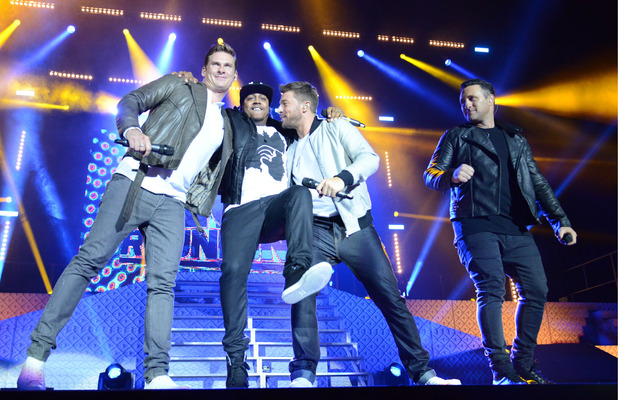 Blue perform on the Big Reunion Boyband Tour, O2 Arena, London - 18 Oct 2014