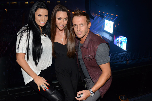 Katie Price and Michelle Heaton attend the Big Reunion Boyband Tour, O2 Arena, London - 18 Oct 2014