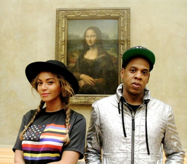 Beyonce and Jay Z at the Louvre museum - Paris. October 2014.