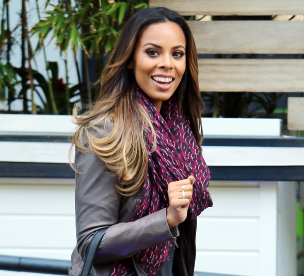 Rochelle Humes outside ITV Studios, London 22 August