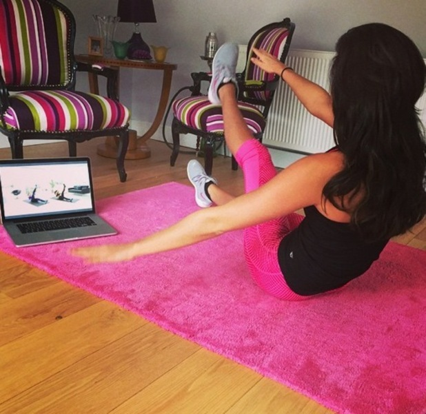 Lucy Mecklenburgh shares photo mid glamorous gym session 17 October