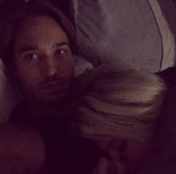 TOWIE's Danielle Armstrong and James Lock cuddle up in bed together- 14 October 2014