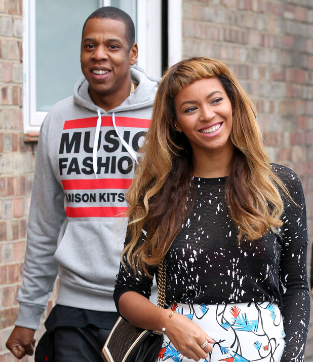 Beyoncé shows off her new fringe while out with Jay-Z in London, England - 15 October 2014
