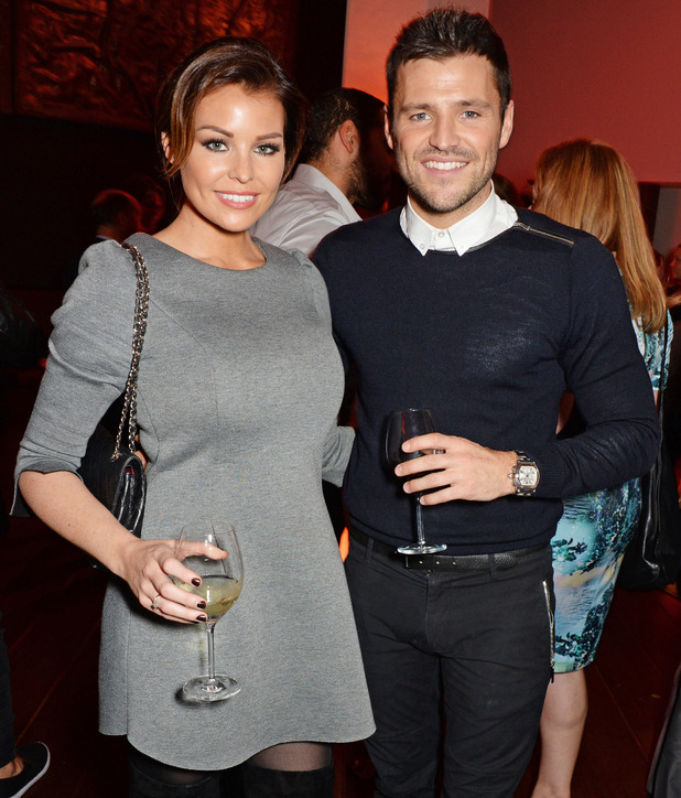 Mark and Jessica Wright attend Jonathan Shalit's OBE party at Avenue, London, 14 Oct 2014
