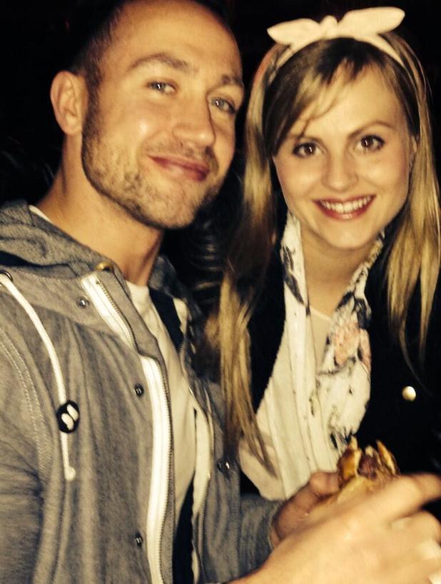 Tina O'Brien and boyfriend Adam Crofts, 30 March 2014