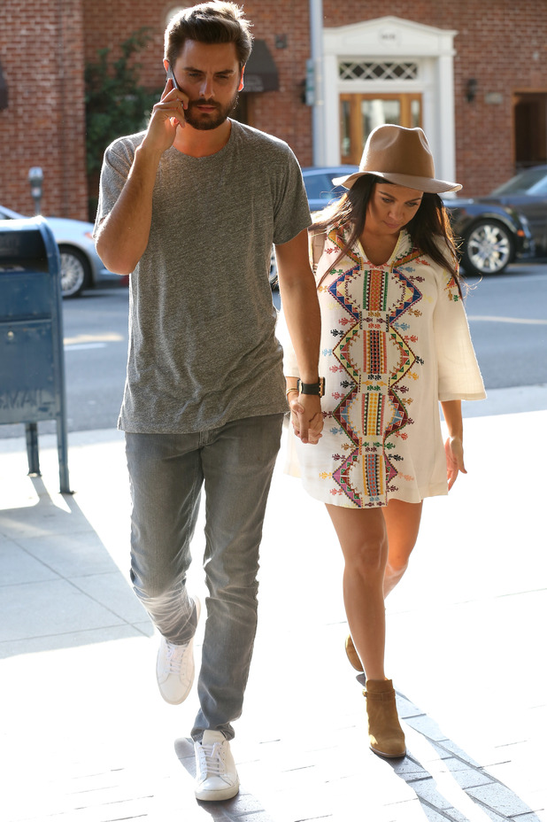 Kourtney Kardashian and Scott Disick out in Beverly Hills, LA 16 October
