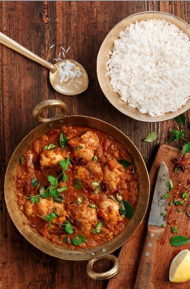 DHRUV BAKER'S PERFECT CHICKEN CURRY for tilda rice