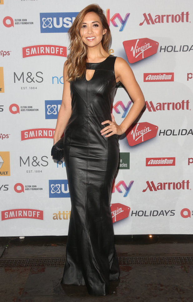 Myleene Klass wears a dress from her Littlewoods collection at the Attitude Magazine Awards in London - 13 October 2014