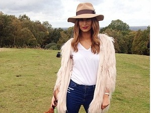 TOWIE's Ferne McCann looks chic even when walking the dog
