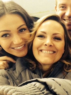 Michelle Keegan poses for selfies with Ordinary Lives co-stars - 23 October 2014