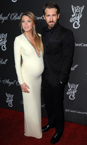 Blake Lively and Ryan Reynolds step out at The Angel Ball in New York, America - 20 October 2014