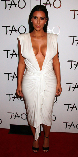 Kim Kardashian attends her 34th birthday party at TAO, 24 Oct