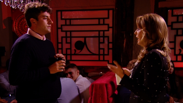 The Only Way Is Essex - James 'Arg' Argent and Lydia Bright argue in Sugar Hut. Episode airs - Wednesday 22 October 2014.