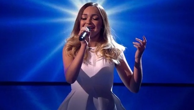 Lauren Platt performs on The X Factor - 18 October 2014