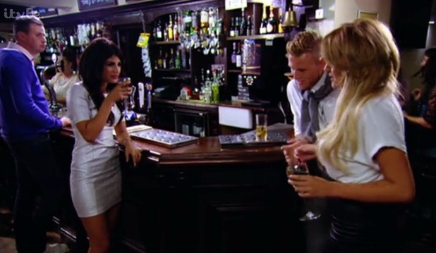 The Only Way is Essex's Jasmin Walia dispute with Tommy and Georgia. Episode aired on 19 Oct 2014