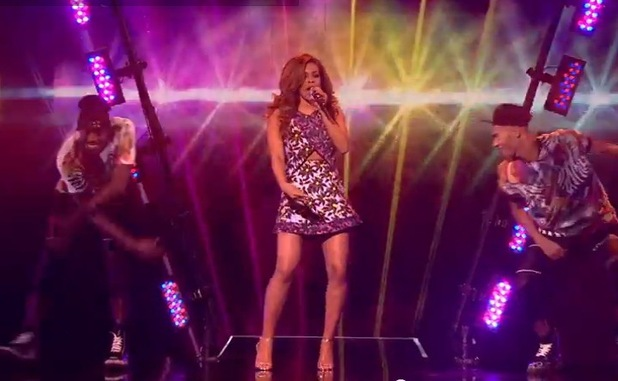 Stephanie Nala performs on The X Factor - 18 October 2014
