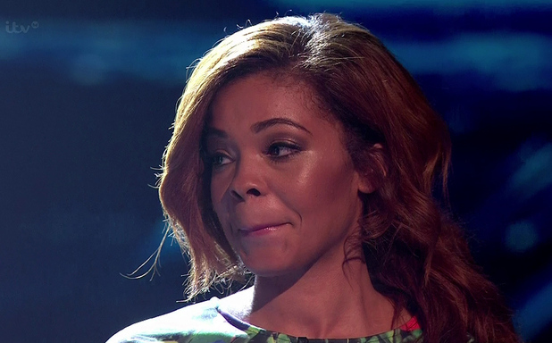 X Factor contestant Stephanie Nala on the results show - 19 October.