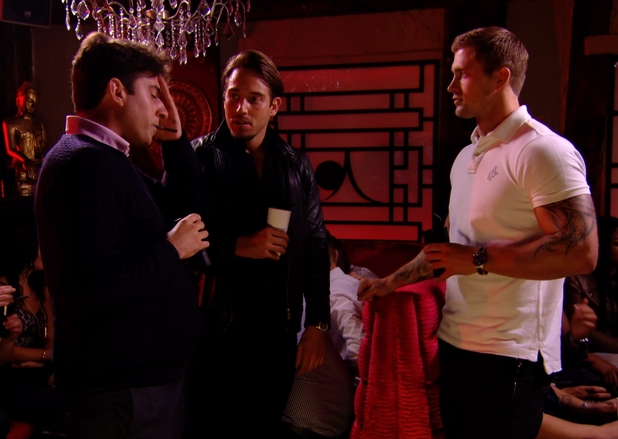The Only Way Is Essex - James 'Arg' Argent speaks to Lockie and Dan about his concerns with Lydia. Episode airs - Wednesday 22 October 2014.