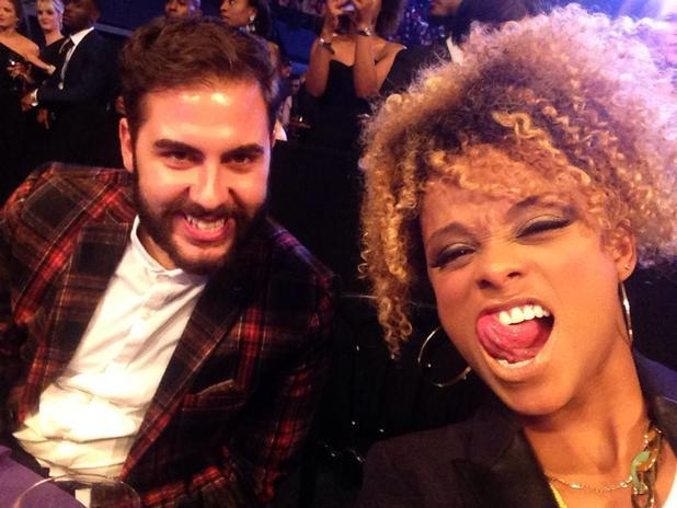 X Factor's Fleur East and Andrea Faustini at the MOBO Awards - 22 Oct 2014