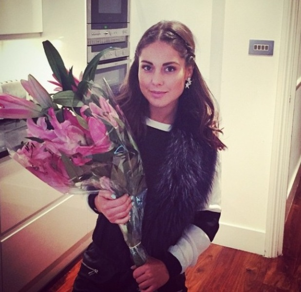 Made In Chelsea's Louise Thompson gets a flower surprise from boyfriend Alik Alfus - 22 October.