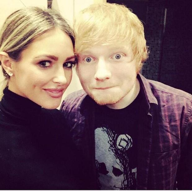 TOWIE's Georgina Dorsett meets Ed Sheeran after LG Arena Birmingham concert - 20 Oct 2014