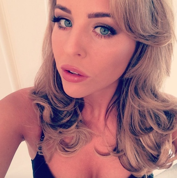 Lydia Bright shows off her new hair extensions, thanks to Malcolm Murphy Hair, 19 October 2014