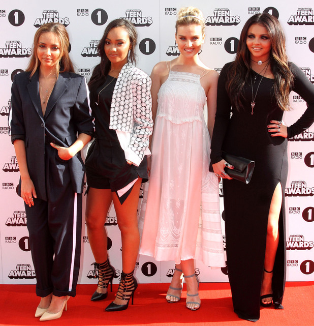 Little Mix's Jade Thirlwall, Leigh-Anne Pinnock, Perrie Edwards and Jesy Nelson attend BBC Radio 1's Teen Awards 2014 in London - 19 October 2014