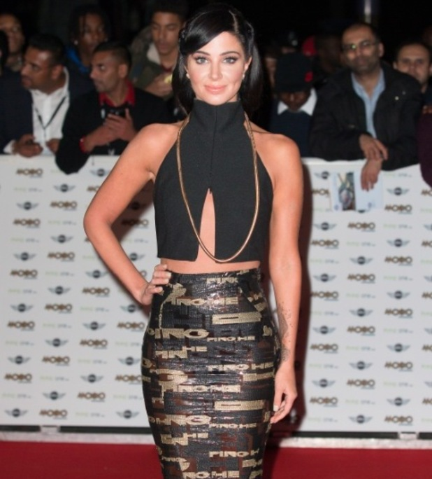 Tulisa at the MOBO Awards 2014, Wembley Arena 22 October