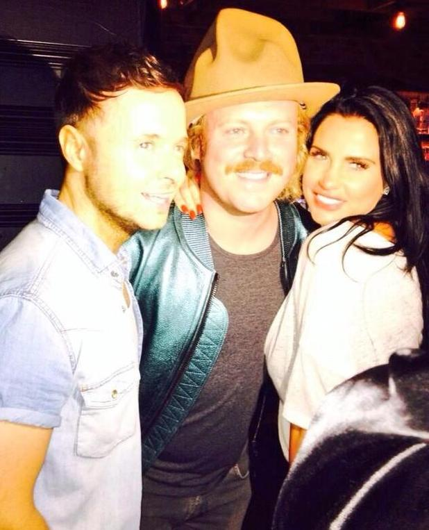 Katie Price hangs out with Lee Brennan and Keith Lemon at Big Reunion Boy Band Tour - 18 Oct 2014