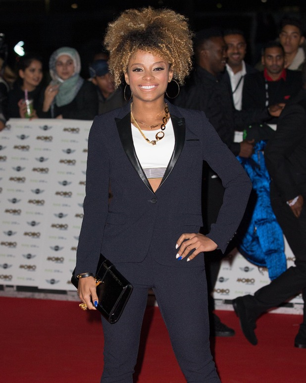 Fleur East at The MOBO awards at Wembely Arena - 22 Oct 2014