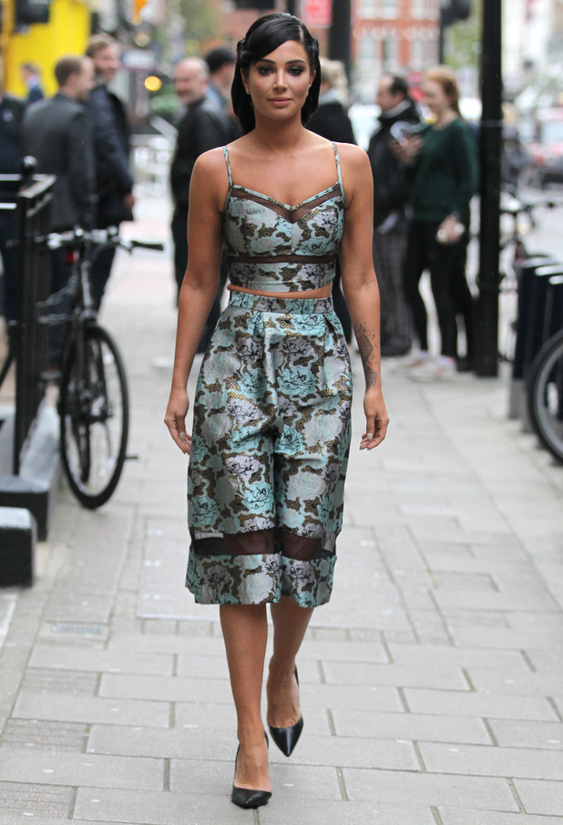 Tulisa Contostavlos heads to the MOBO Awards in London, England - 22 October 2014