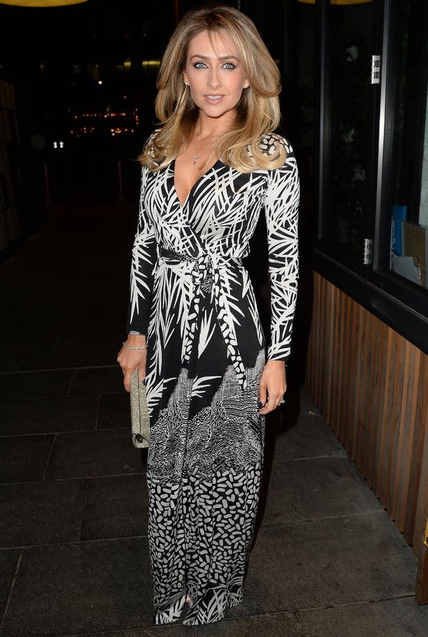 Gemma Merna celebrates leaving Hollyoaks with a knees-up, 25 October 2014