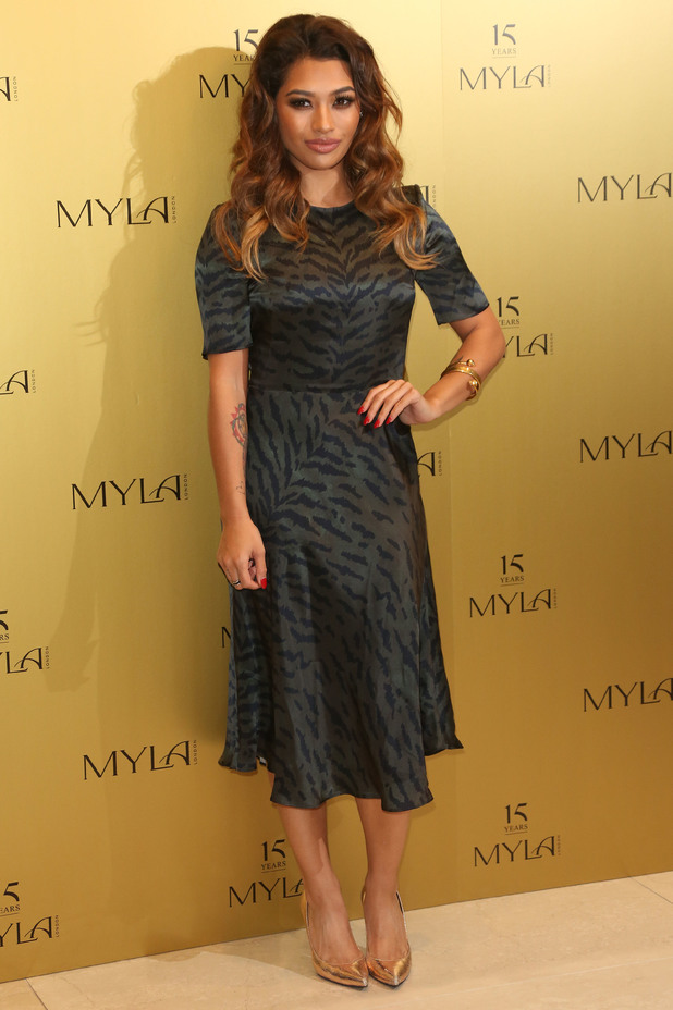 Vanessa White attends the Myla 15th anniversary celebration in London, England - 21 October 2014