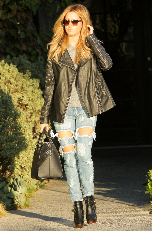 Ashley Tisdale steps out in Los Angeles, America - 21 October 2014
