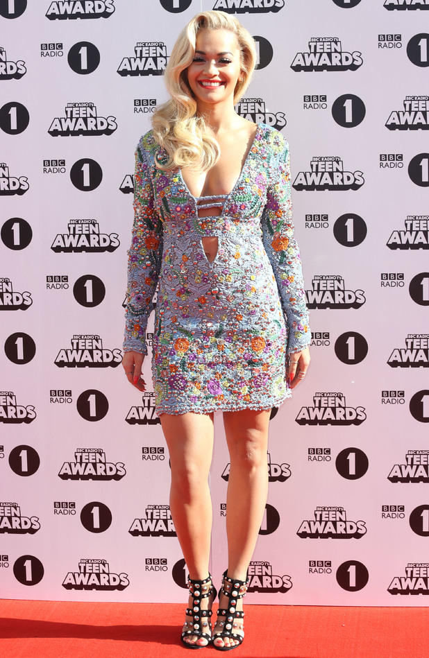 Rita Ora steps out at the BBC Radio 1 Teen Awards 2014 in London - 19 October 2014