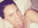 Danielle Lloyd shows off glowing skin in no make-up selfie, 20 October 2014