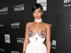 Rihanna wears revealing stockings and sheer dress for amfAR Gala in LA