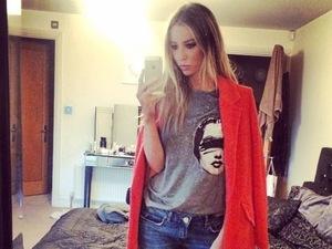TOWIE's Lauren Pope gives us coat envy in chic orange number
