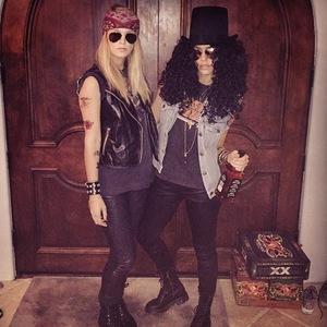 Jessica Alba dresses as Slash for Halloween 30 October