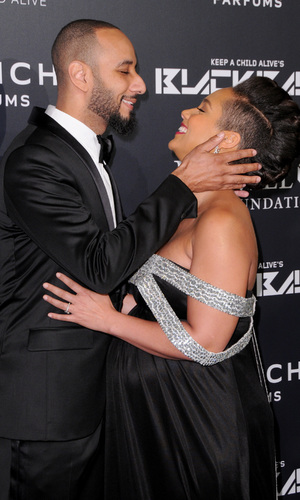 Alicia Keys and Swizz Beatz attend Keep A Child Alive's 11th Annual Black Ball, Manhattan 30 October