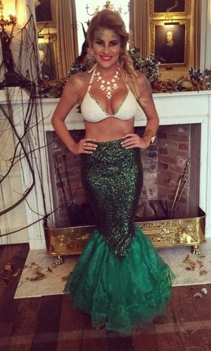 Georgia Kousoulou dresses up as mermaid for Halloween 29 October