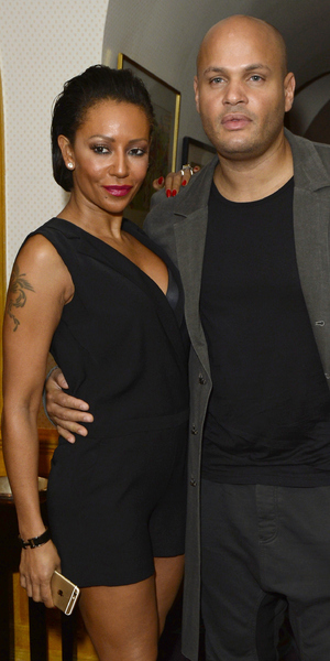 Mel B and Stephen Belafonte at the launch for 'A String of Naked Lightbulbs' documentary, Annabel's, London 28 October
