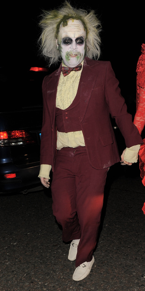 Leigh Francis attends Jonathan Ross' annual Halloween party, 31 October 2014
