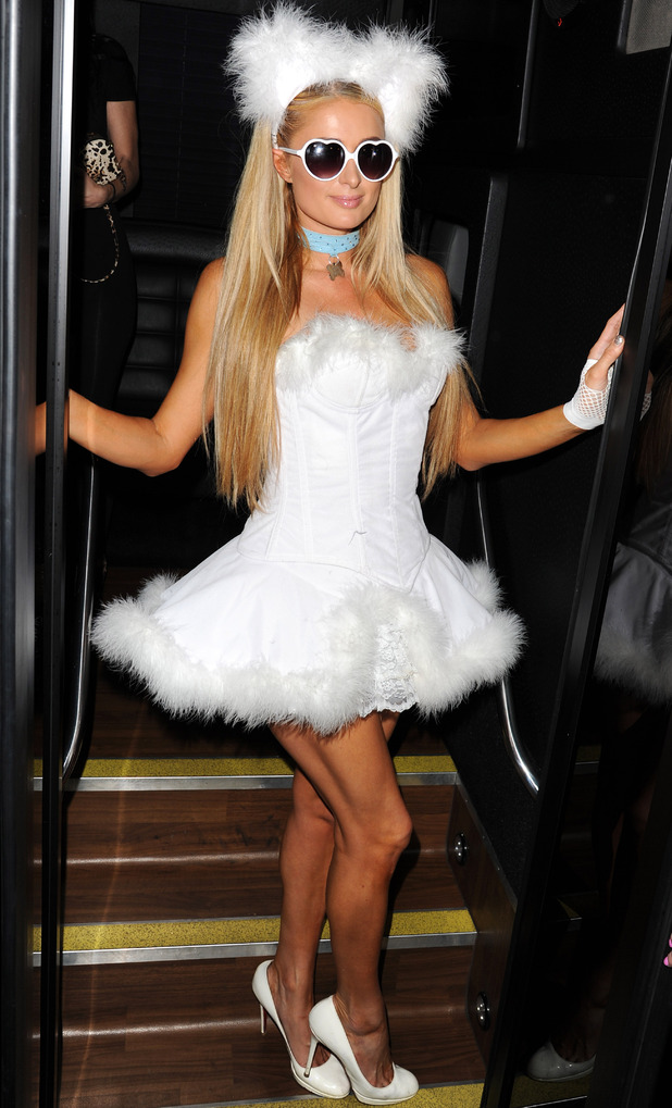 Paris Hilton at Sexy Haunted Mansion Party, 30/10/14