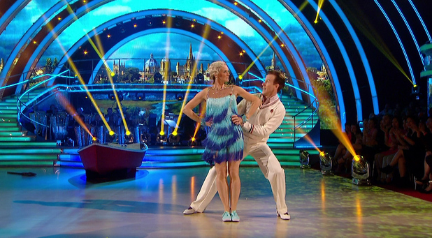 Judy Murray performs the Charleston on Strictly Come Dancing, BBC One 25 October