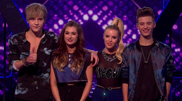 Only The Young following their performance on The X Factor 25 October