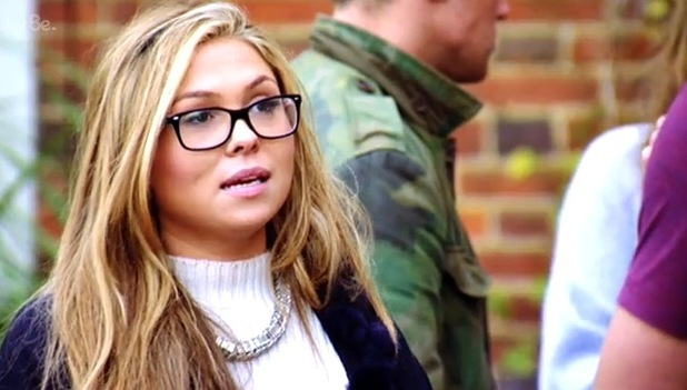 TOWIE's Fran Parman and Lewis Bloor argue in the street - 27 Oct 2014