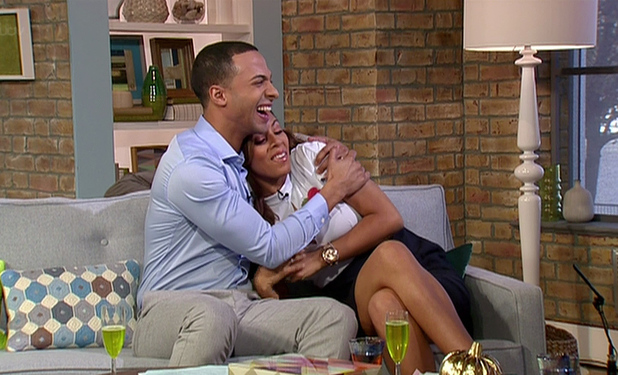 Marvin Humes scares Rochelle Humes on This Morning 31 October