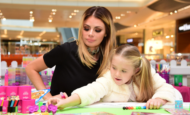 Chloe Sims and daughter Madison at Westfields, Stratford 29 October